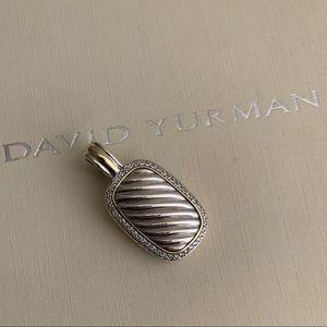 ❤️David  Yurman Diamond Cable  Pendant Enhancer
